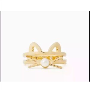 Stunning Gold Kate Spade Out West Cat Ring